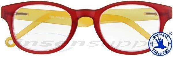 Rio Kunststoffbrille rot-gelb