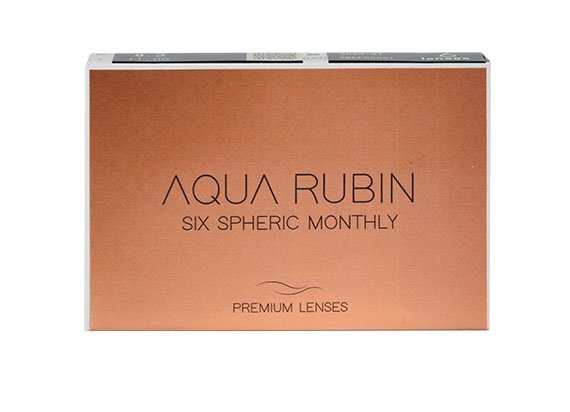 Aqua Rubin Premium - Six spheric monthly (1x6)