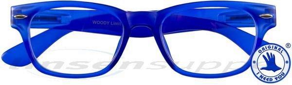 Woody limited Retro-Kunststoffbrille blau