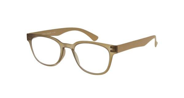 JAMES - Retro-Kunststoffbrille braun