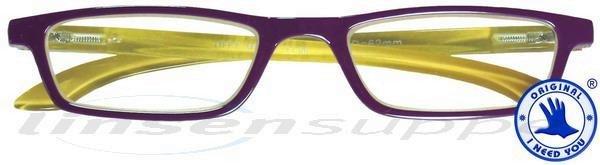 Tiffy Kunststoffbrille pflaume-beige