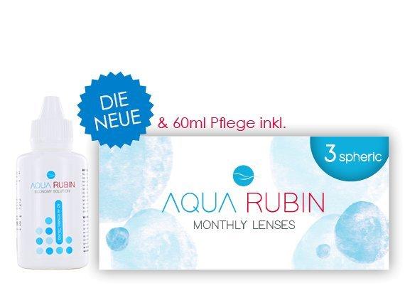 Aqua Rubin - Monatslinse (1x3)