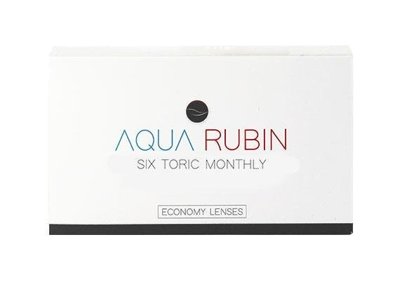 Aqua Rubin Economy - Six toric monthly (1x6)