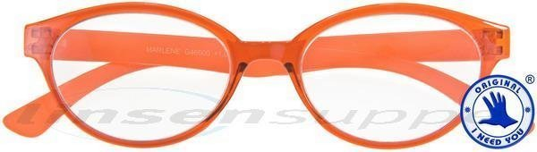 Marlene Retro-Kunststoffbrille orange
