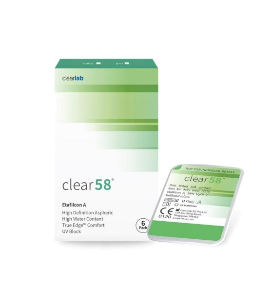 Clear 58 (1x6)