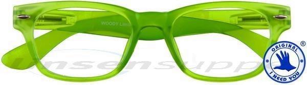 Woody limited Retro-Kunststoffbrille grün