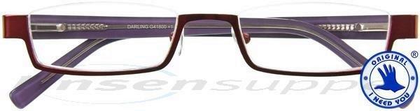 Darling Nylorbrille rot-flieder