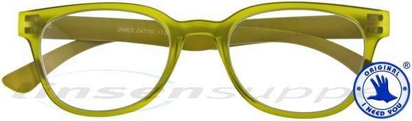 James Retro-Kunststoffbrille oliv