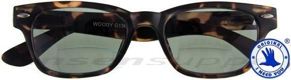 Woody Sun-Bi braun mit G15 Retro-Bifokal-Sonnenbrille