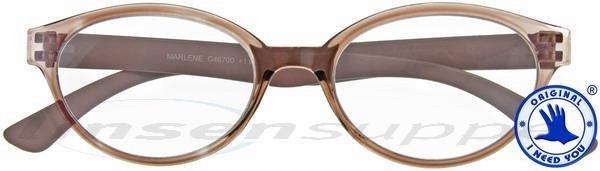 Marlene Retro-Kunststoffbrille braun