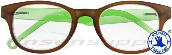Rio Kunststoffbrille braun-grün