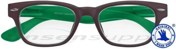Woody Selection Retro-Kunststoffbrille braun-grün