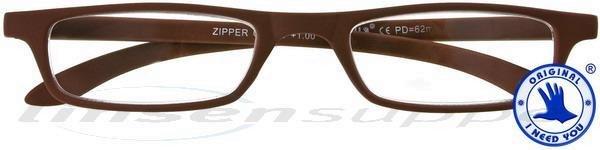 Zipper Kunststoffbrille braun