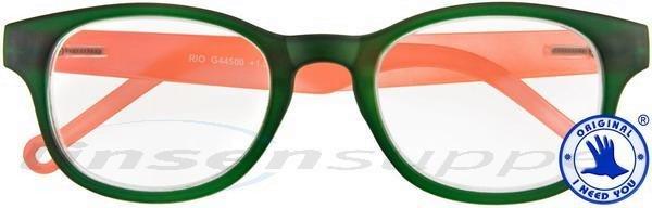 Rio Kunststoffbrille grün-orange