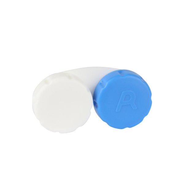 Behälter flach blau-weiß