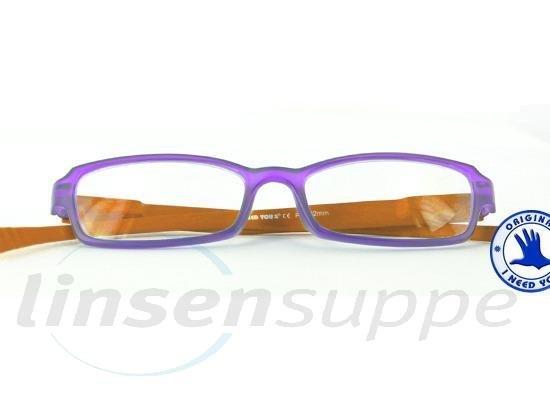 Hangover Kunststoffbrille lila-orange
