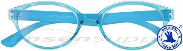 Marlene Retro-Kunststoffbrille hellblau