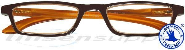 Tiffy Kunststoffbrille braun-orange