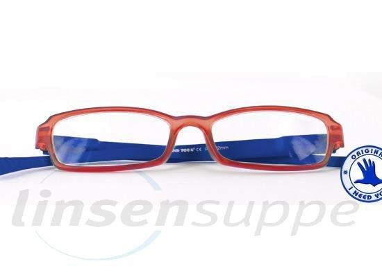 Hangover Kunststoffbrille rot-blau