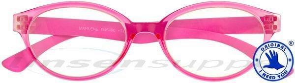 Marlene Retro-Kunststoffbrille pink