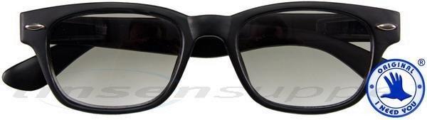 Woody Sun Kunststoff-Sonnenbrille schwarz