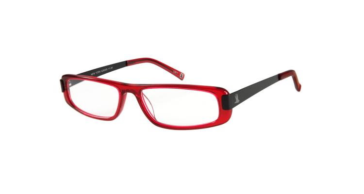 NEW YORK - Acetat-Lesebrille rot-schwarz