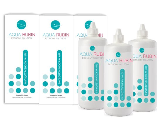Aqua Rubin - Kochsalzlösung (3x360ml)