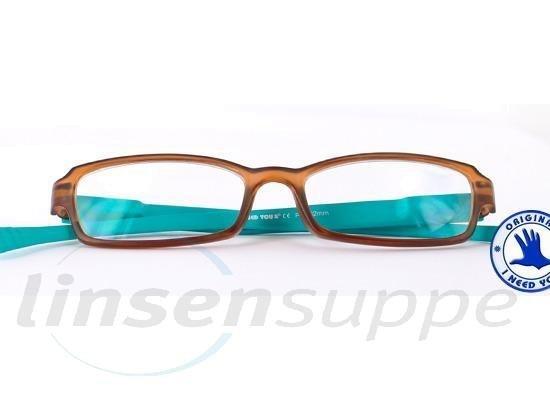 Hangover Kunststoffbrille braun-türkis