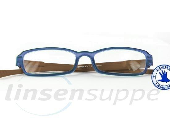 Hangover Kunststoffbrille blau-braun